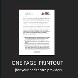 American Diabetes Association Low Carb Recommendations – one page printout